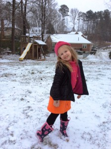 Our Charlotte in the snow